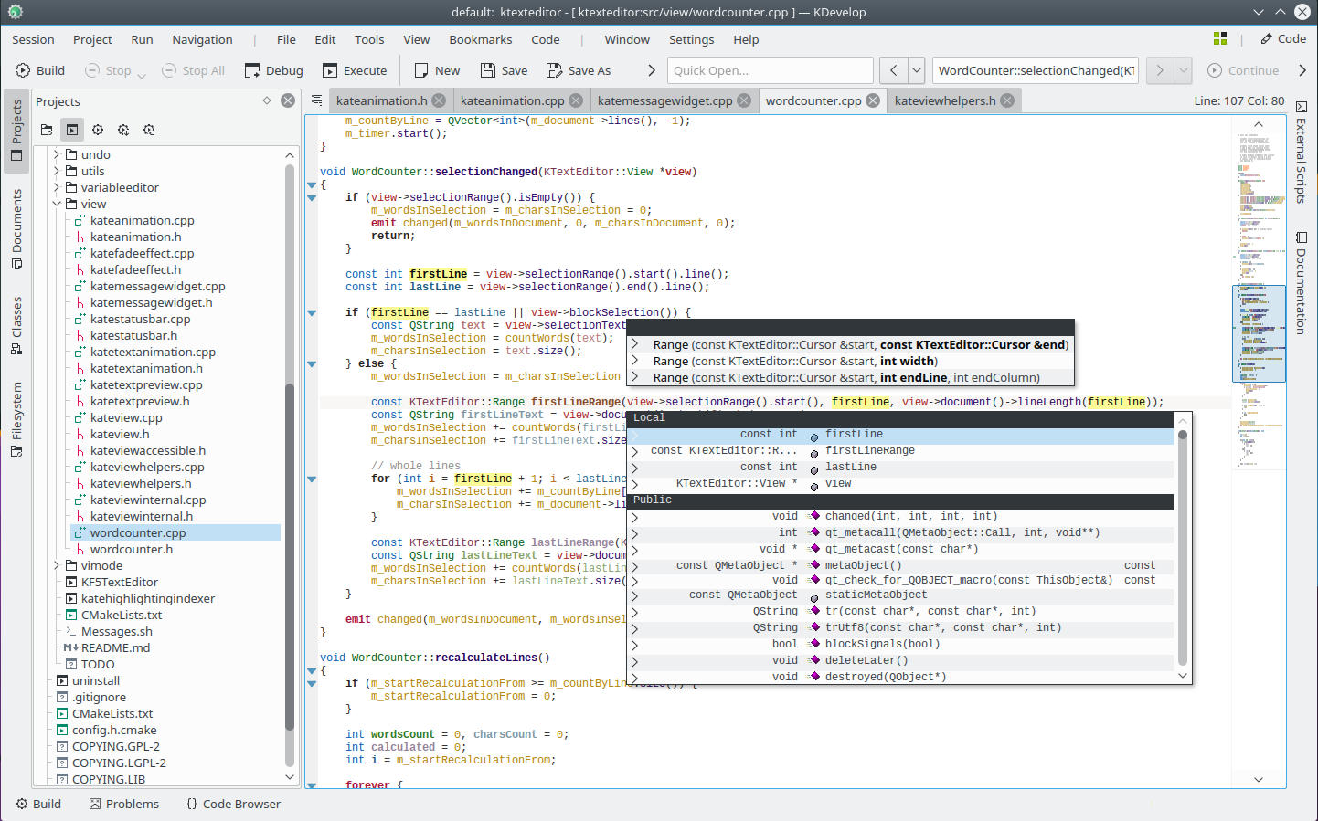 A cross-platform IDE for C, C++, Python, QML/JavaScript and PHP