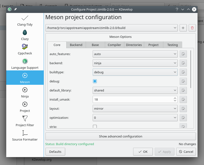 Meson project configuration